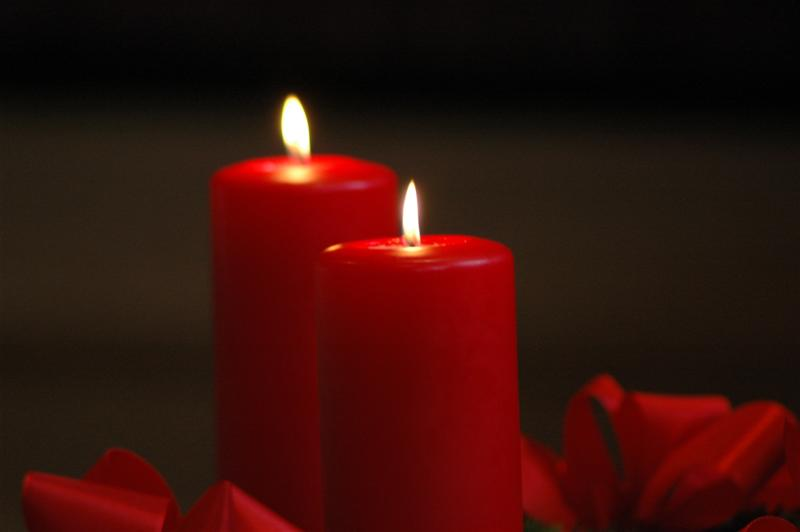 2. advent kerzen